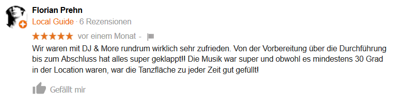 DJ Hannover Google Empfehlung 01