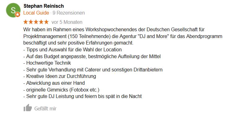 DJ Hannover Google Empfehlung 02