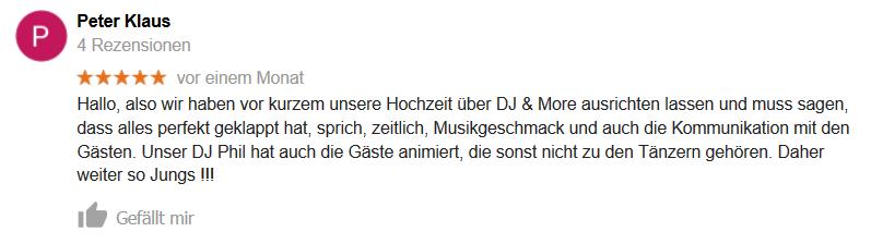DJ Hannover Google Empfehlung 03